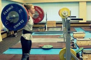 Юлия Рипинская, чемпионка Европы по тяжелой атлетике