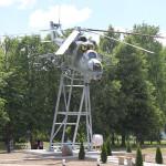 Новые Засимовичи - пьедестал с вертолётом «Ми-24»