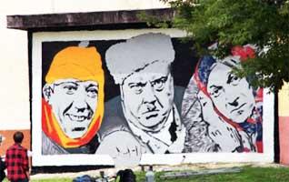 Граффити-сериал в Витебске: Доцент, чистый холст, цитата, «самогонщики»… (ФОТО)