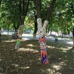 В Полоцке появились деревья с орнаментом